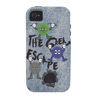 Fun Characters Escaping from Hole Vibe iPhone 4 Cover