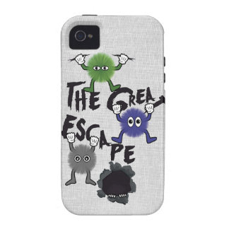 Fun Characters Escaping from Hole iPhone 4 Covers