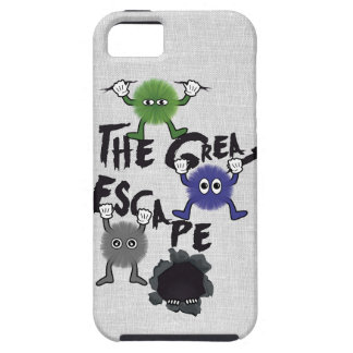 Fun Characters Escaping from Ripped Hole iPhone 5 Case