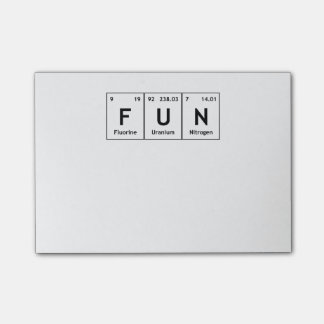 FUN Chemistry Periodic Table Words Elements Atoms Post-it Notes