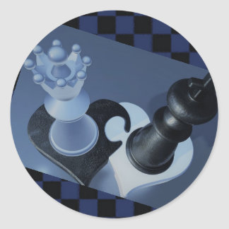Fun Chess Stickers! Classic Round Sticker