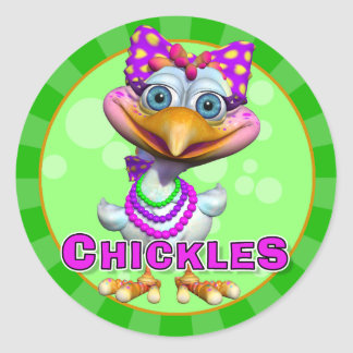 Fun Chickles Stickers