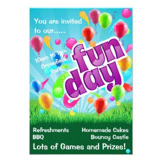 Fun children s party Fun day invite