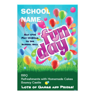 Fun children s party fun day poster personalized announcement