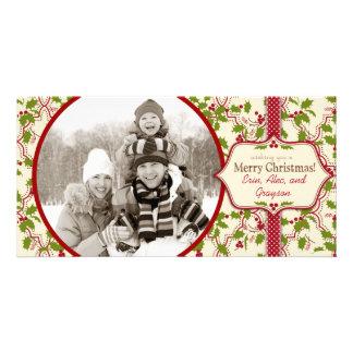 Fun Christmas Holly Photo Card