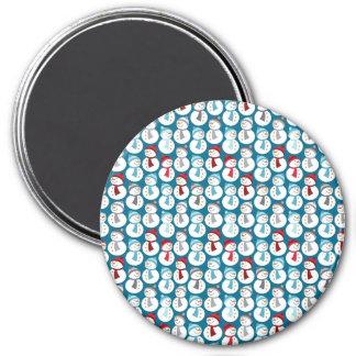 Fun Christmas Snowman Pattern Refrigerator Magnets