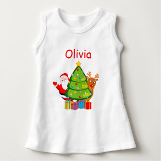Fun Christmas tree with Santa Claus and Rudolph, Dress