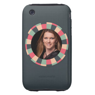 Fun Circle frame - vintage candy - dark iPhone 3 Tough Cover