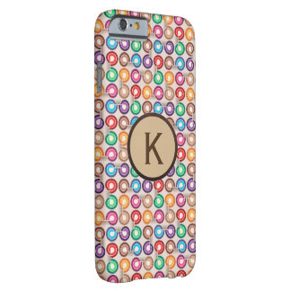 Fun Circular Patterns w/Monogram Barely There iPhone 6 Case