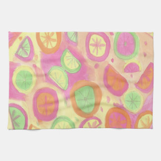 Fun Citrus Print Kitchen Towel