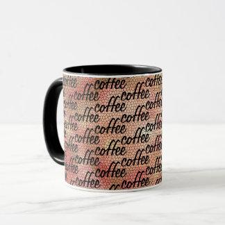 Fun coffee All Over Word Pattern Design Mug