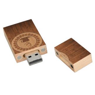 Fun coffee lovers wood USB Drive