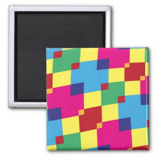 Fun Color Blocks Fridge Magnet