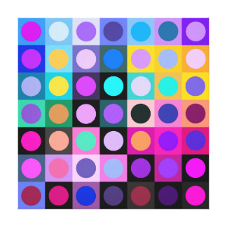 Fun Color Expression. Stretched Canvas Print