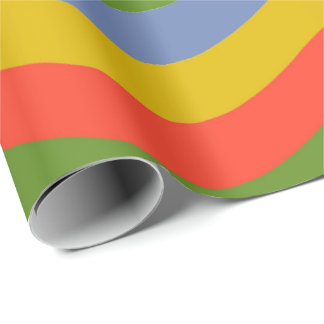Fun Color Waves Retro Wrapping paper