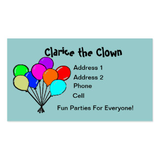 Fun Colored Balloons Party Business Card