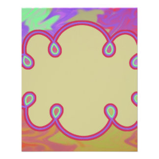 Fun Colorful Abstract Art Personalized Flyer