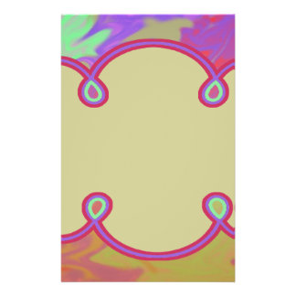 Fun Colorful Abstract Art Custom Flyer