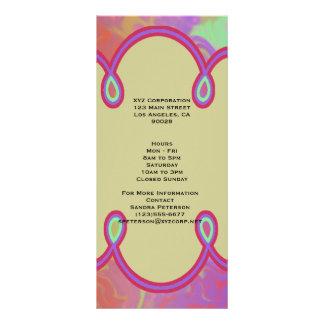 Fun Colorful Abstract Art Rack Card Design