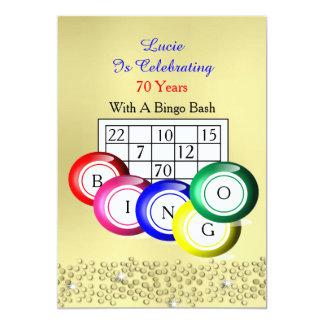 Fun Colorful Bingo Themed Party 13 Cm X 18 Cm Invitation Card