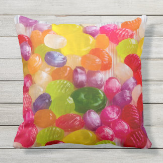 Fun Colorful Candies Design Throw Pillow