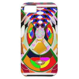 Fun Colorful Cartoon Faces: Graphic Greetings GIFT iPhone 5 Covers