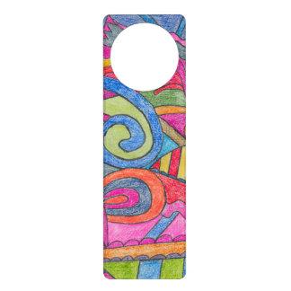 Fun Colorful Design Door Hanger