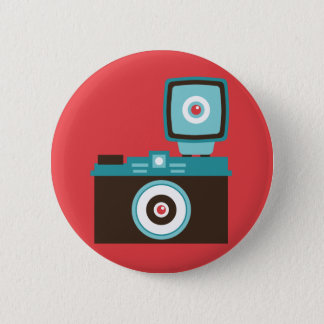 Fun Colorful Diana Lomo Camera Photographer 6 Cm Round Badge