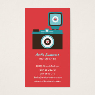 Fun Colorful Diana Lomo Camera Photographer Business Card