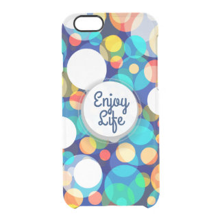 Fun Colorful Dots Pattern (Kids, Celebrations) Clear iPhone 6/6S Case