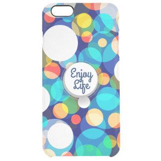 Fun Colorful Dots Pattern (Kids, Celebrations) Clear iPhone 6 Plus Case