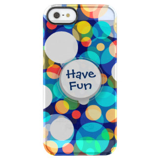 Fun Colorful Dots Pattern (Kids, Celebrations) Clear iPhone SE/5/5s Case