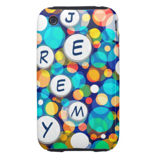 Fun Colorful Dots Pattern (Kids, Celebrations) iPhone 3 Tough Cover