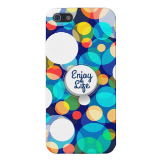 Fun Colorful Dots Pattern (Kids, Celebrations) iPhone 5 Cases