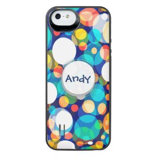 Fun Colorful Dots Pattern (Kids, Celebrations) iPhone SE/5/5s Battery Case