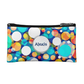 Fun Colorful Dots Pattern (Kids, Celebrations) Makeup Bag