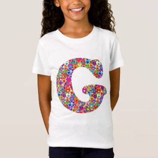 Fun Colorful Dynamic Heart Filled G Monogram T-Shirt