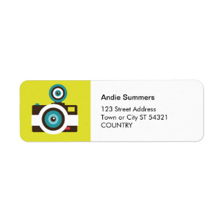 Fun Colorful FishEye Camera Photographer Return Address Label
