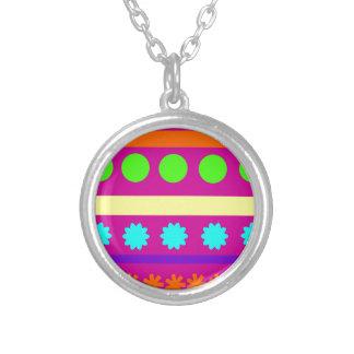Fun Colorful Fuschsia Geometric Shapes Stripes Custom Jewelry