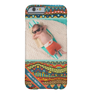 Fun Colorful Geometric Pattern Barely There iPhone 6 Case