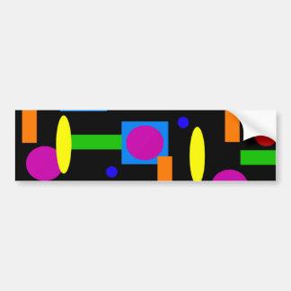 Fun Colorful Geometrical Shapes Circles Squares Bumper Sticker