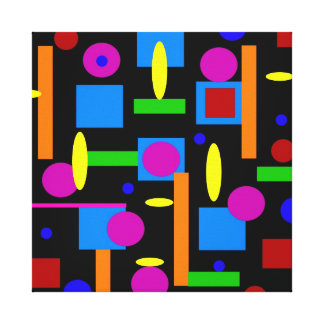 Fun Colorful Geometrical Shapes Circles Squares Canvas Print