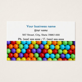 Fun colorful gumball business card. business card