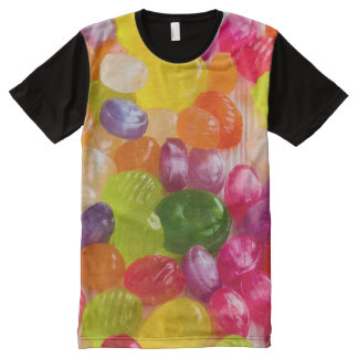 Fun Colorful Hard Candies Pattern T-Shirt All-Over Print T-Shirt