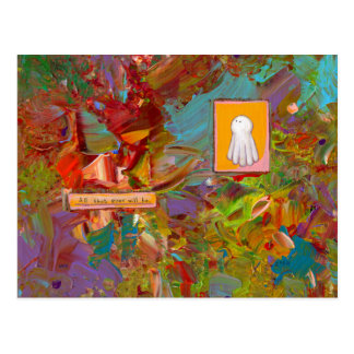 Fun colorful inspirational art glorious ghost postcard