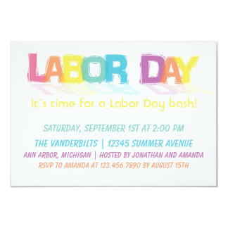 Fun Colorful Labor Day Card