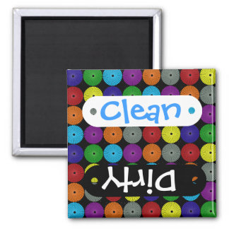 Fun Colorful Multi Colored Circles Disks Buttons Fridge Magnet