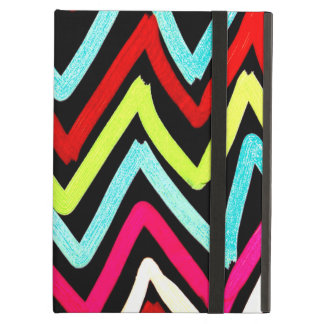 Fun Colorful Painted Chevron Tribal ZigZag Striped Cover For iPad Air