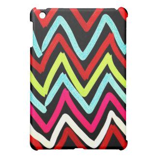 Fun Colorful Painted Chevron Tribal ZigZag Striped iPad Mini Case