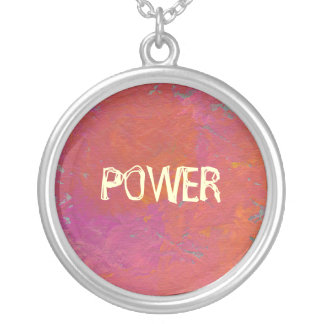 Fun colorful pink orange art painting customized necklaces